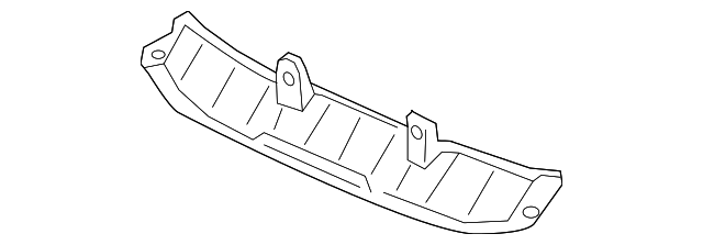 Plate, Front Bumper Middle Induction