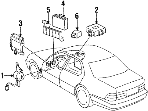 electrical components for 1997 lexus ls400