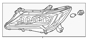Headlight Assembly, L - Acura (33150-TX6-A51)