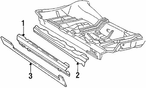 Oem 1990 Cadillac Brougham Rocker Panel Parts