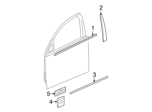 Exterior Trim - Front Door for 2006 Chevrolet Malibu #0