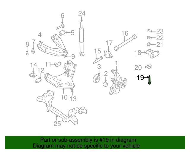 Genuine Nissan Anchor Bolt 54216-31G0A