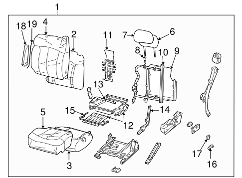 Front Seat Components For 2005 Chevrolet Avalanche 1500 Gm Parts Club
