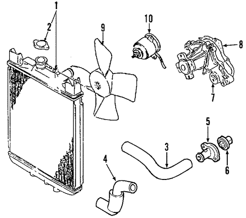 Radiator Components For 2005 Suzuki Aerio