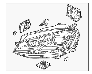 Headlamp Assembly - Volkswagen (5GM-941-078)