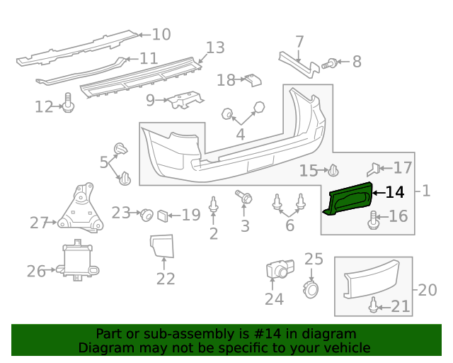 rear step New Genuine OEM Part 51776-60031 Toyota Cover no.2 5177660031