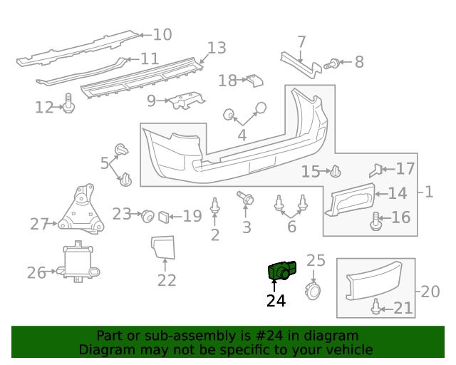 Toyota 89341-33190-J4 Parking Sensor