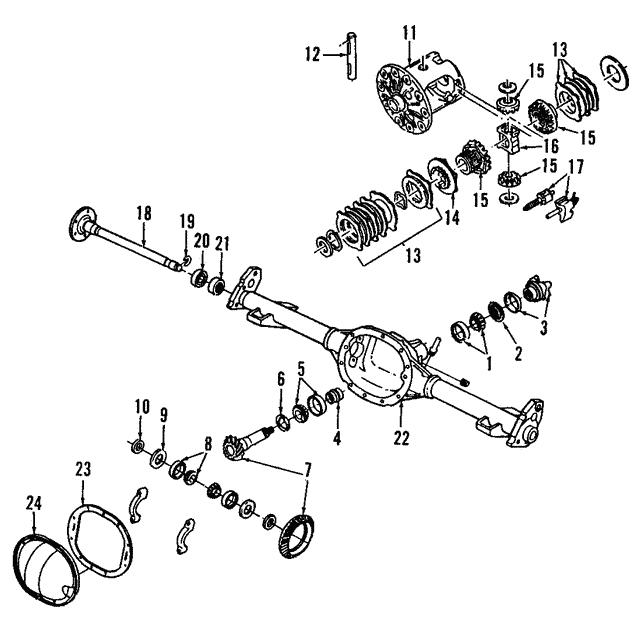 Gm Differential Case 12479123 on Buick Rainier Accessories