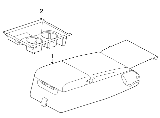 2012 2015 Jaguar Rear Console C2d11388cjb