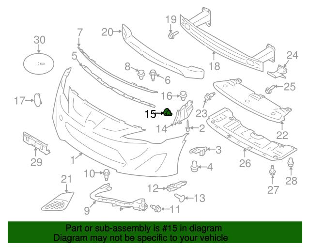 Duct Retainer Clip Toyota Su003 02985