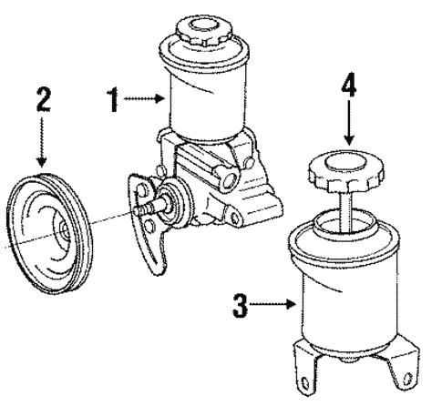 Genuine Oem Pump Hoses Parts For 1992 Toyota Pickup Dlx