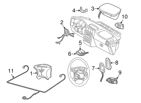 Other Gm Parts further Gm Clock Spring 19330851 likewise Gm Position Sensor 15231652 also 2000 Cadillac Dts 4 6 further Gm Flex Coupling 26019706. on cadillac dts steering column