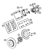 Disc Brake Caliper Adapter - Mopar (68192437AA)