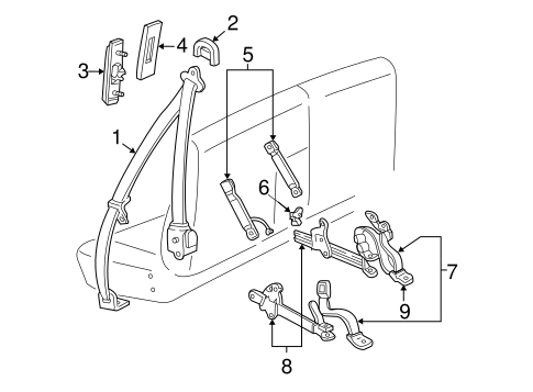 Ford Ranger Seat Diagram