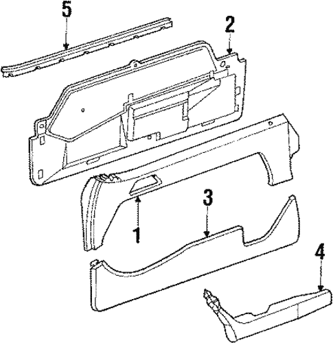 Door Trim Panel for 1995 Mercedes-Benz E 320 #0