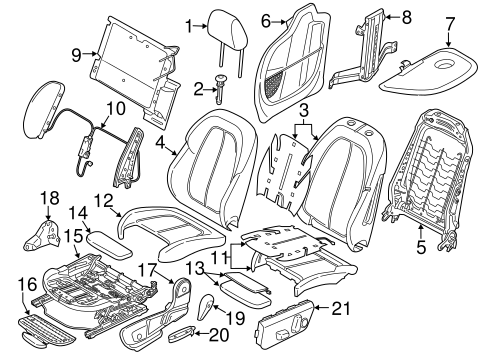 Driver Seat Components For 2017 Bmw X1