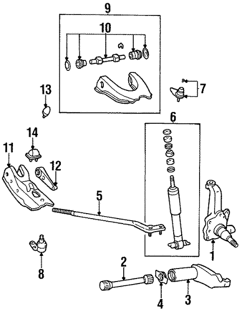 Suspension Components for 1997 Toyota T100 #1