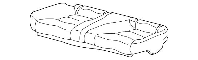 Honda Genuine 82940-T3L-A02ZA Headrest Assembly Rear