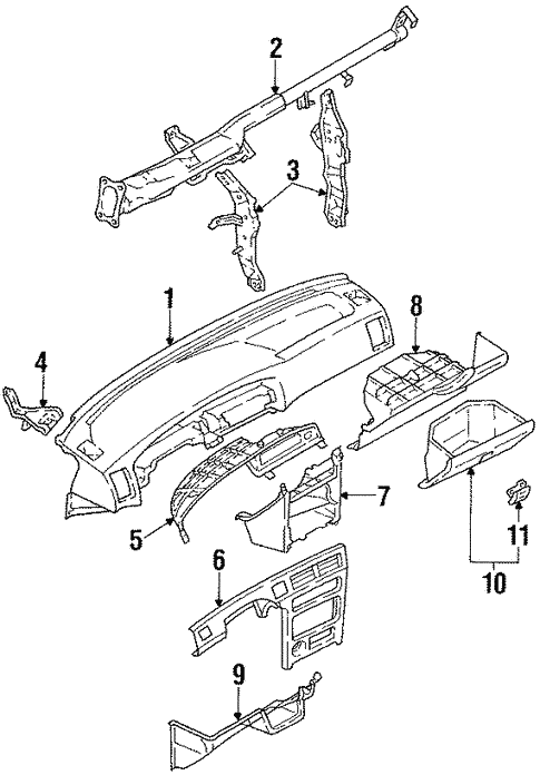 Genuine Oem Instrument Panel Parts For 1992 Toyota Corolla Le