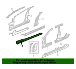 Floor Side Rail - Jaguar (XR833221)
