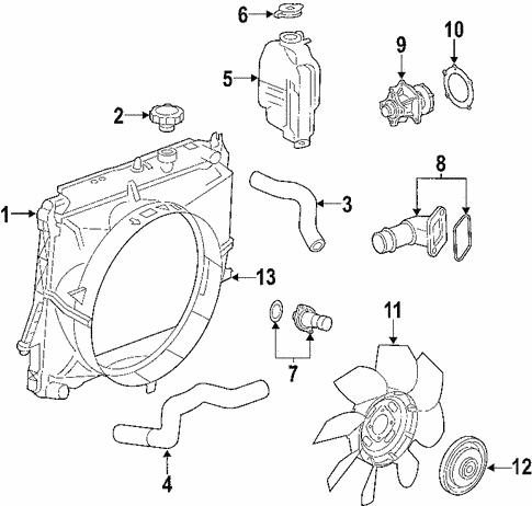 Oem 2007 Chevrolet Colorado Radiator Components Parts
