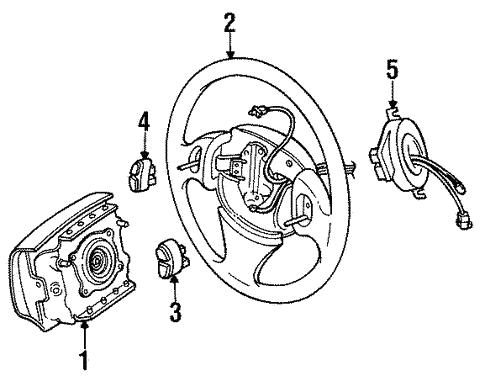 Steering Wheel Trim For 1996 Chrysler Sebring