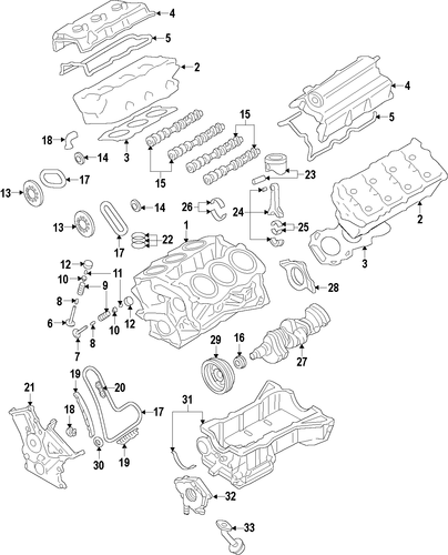 2012 Lincoln Mkt Head Gasket: Engine Parts