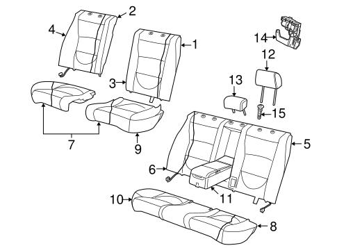 Rear Seat Components For 2004 Jaguar Vanden Plas