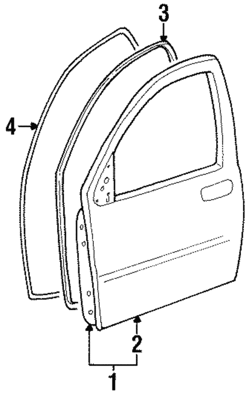 Door Components For 1998 Ford Windstar