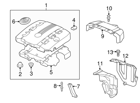 Oem 2012 Cadillac Cts Engine Appearance Cover Parts