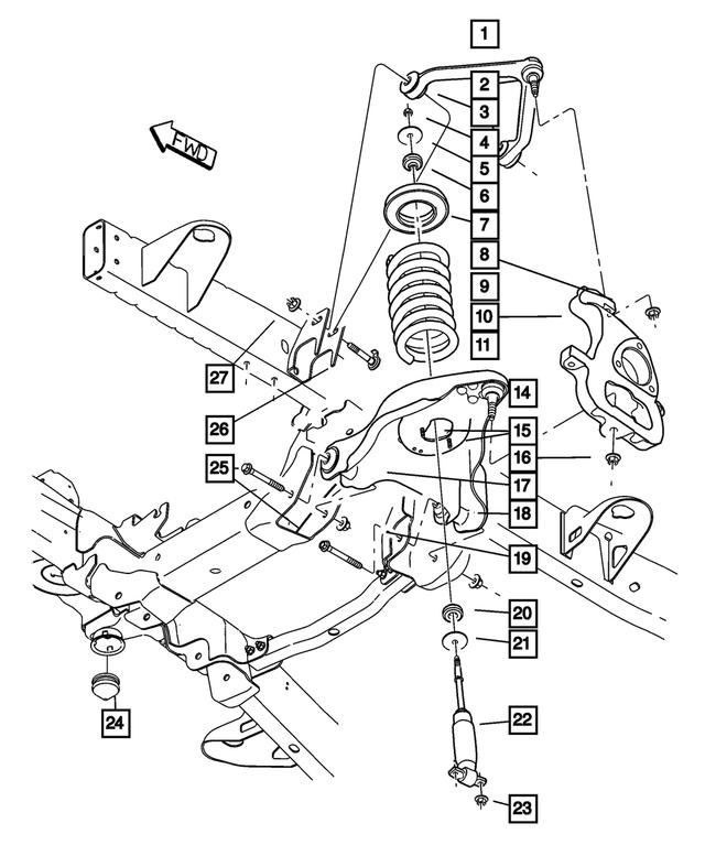 Genuine Chrysler 52121586AA Control Arm Upper