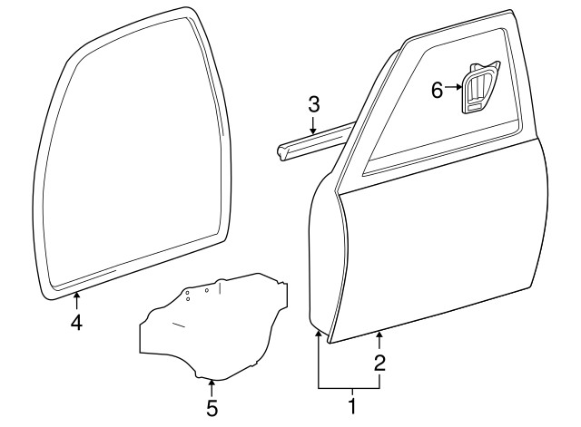 2007 Toyota Tacoma Front Door Diagram