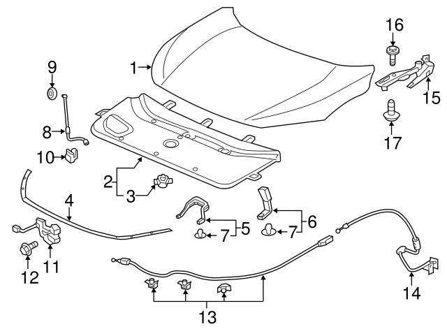 2017 Honda Civic 5door Insulator Engine Hood 74141tgga00 Roswell Parts: Honda Civic Hood Parts Diagram At Downselot.com