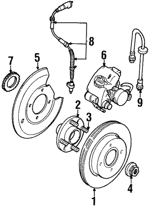 Brakes/Rear Brakes for 1997 Ford Contour #1