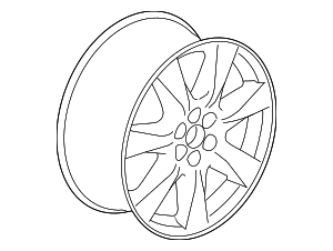 Wheel, Alloy - GM (22877555)