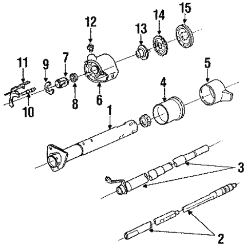 Steering Column Assembly for 1993 Chevrolet S10 ...