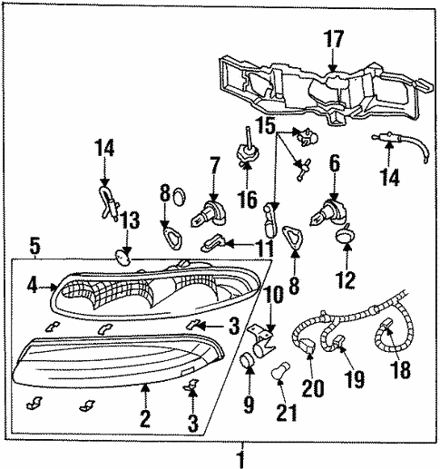 1999 Oldsmobile Aurora Engine Diagram