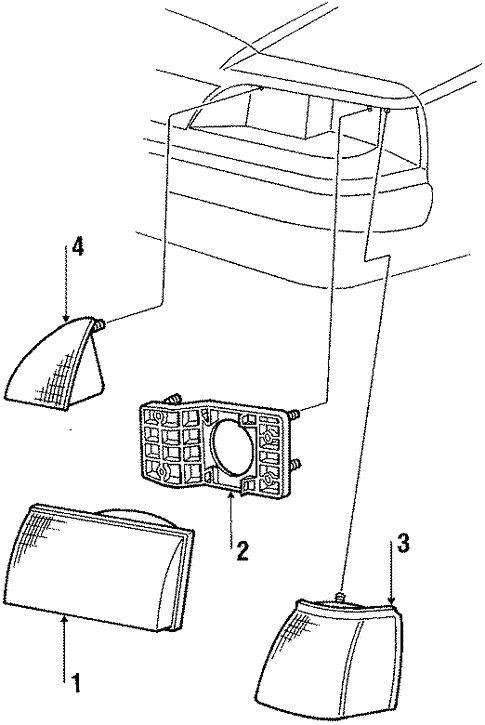 Headlamp Components For 1987 Ford Thunderbird