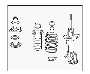 Shock Absorber Assembly, R Front - Acura (51601-STX-A06)