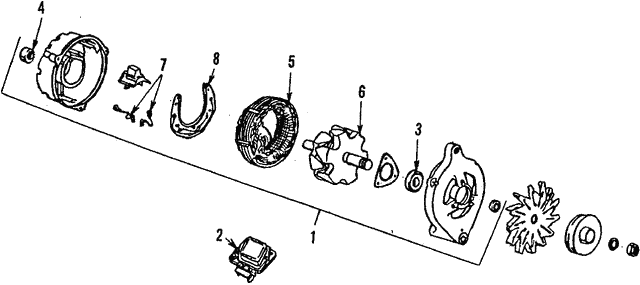 Alternator - Ford (F58Z-10346-AARM1)