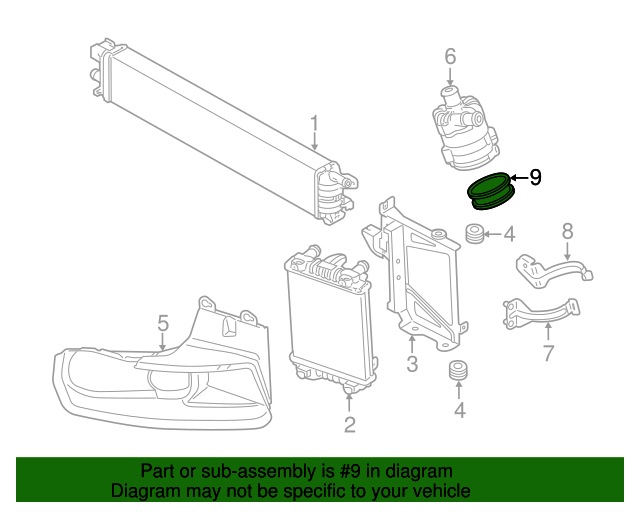 Auxiliary Pump Insulator Audi 4f0 133 567 Rapid Parts