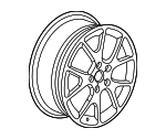 Wheel, Alloy - Mopar (1RU20DD5AC)