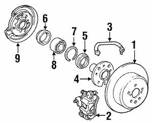 Toyota 90947-02C23 Disc Brake Hydraulic Hose