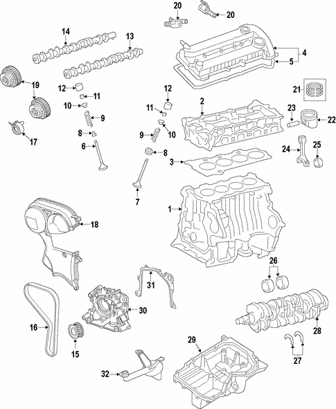 OEM 2017 Ford Escape Engine Parts