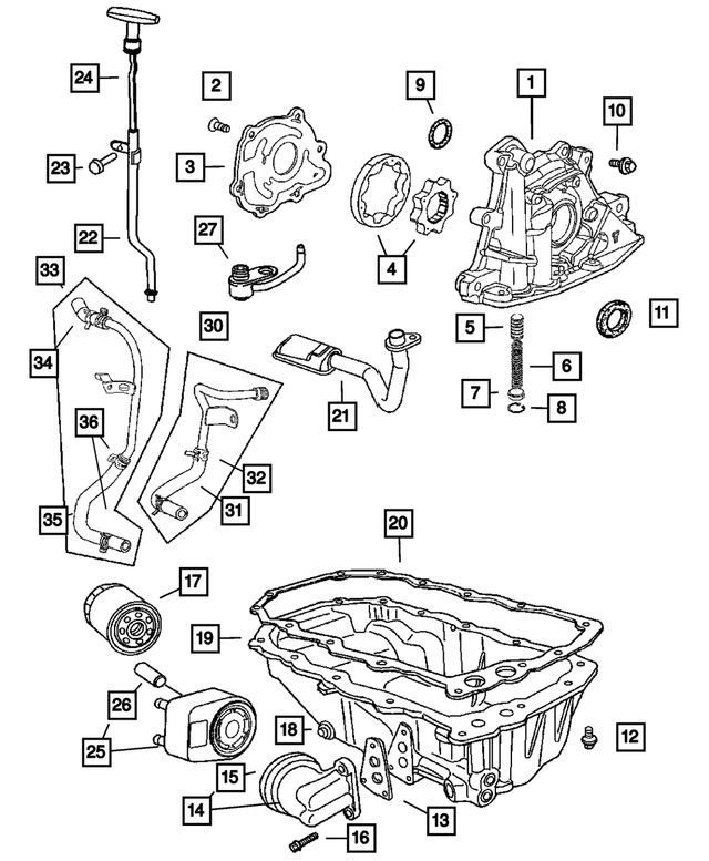 Genuine Chrysler 4884000AA Oil Filter Adapter Gasket