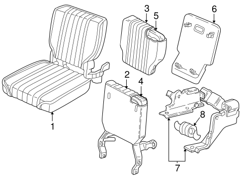 Rear Seat Components For 1996 Chevrolet S10