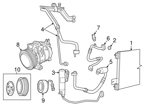 Condenser Compressor Lines For 2016 Jeep Patriot