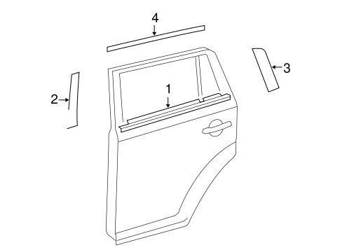 BODY/EXTERIOR TRIM - REAR DOOR for 2012 Scion xB #1
