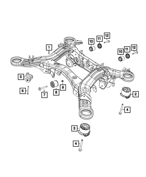 Rear Suspension and Cradle for 2018 Jeep Grand Cherokee #0