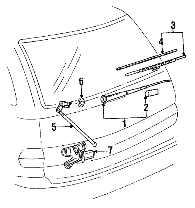 Toyota 85220-12200 Wiper Blade Assembly